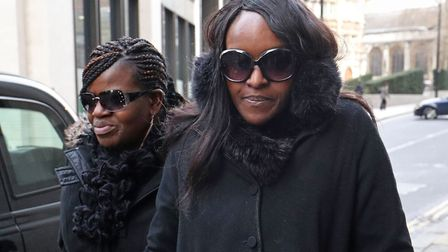 Fiona Onasanya (right) arrives at the Old Bailey, London for sentencing after lying to avoid speedin