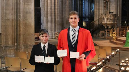 Students and staff from King's Ely Junior and King's Ely Senior came together at Ely Cathedral to ma