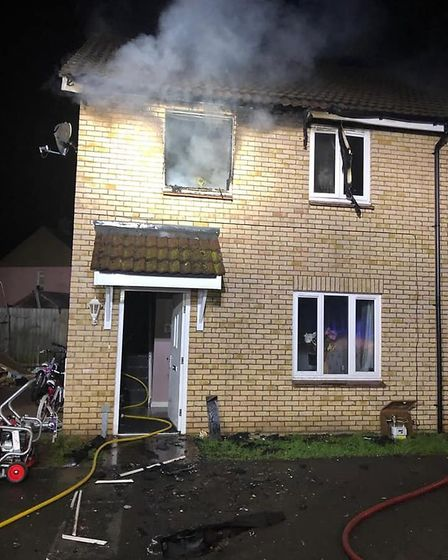 A family of five have been found temporary accommodation following a horror blaze at their Newmarket