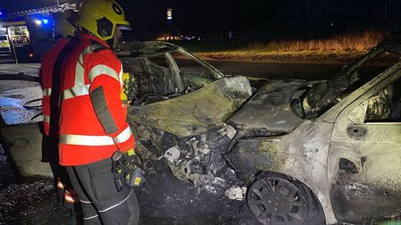 Two people have received serious injuries after a collision on the outskirts of March today on the A