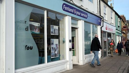 Fenland District Council, Fenland @ your service shop in Broad Street, March, will close this year.