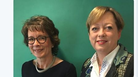 Lesley Regan, president of the Royal College of Obstetrics and Gynaecologists with MP Jackie Doyle P