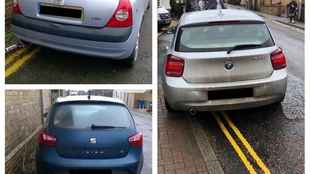 Police warned motorists they will return after catching three vehicles parked illegally on double ye