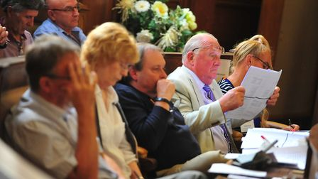 The PKF report into FACT, HACT and ESACT being discussed at Shire Hall, Cambridge, last July July. P