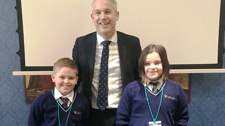 Pupils at a Little Downham primary school met Stephen Barclay MP during an 'inspirational' visit to