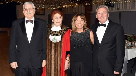 Cllr Jan French hosted the annual charity ball at March Braza Club. Mayor French welcome guests and