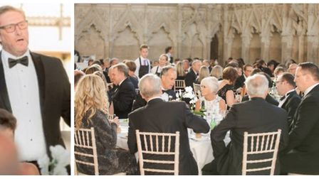 Mayor James Palmer hosts £120 a head guests at his charity ball at Ely Cathedral. The company that p