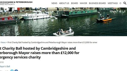 How the Cambridgeshire and Peterborough Combined Authority announced the success of Mayor James Palm