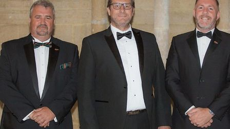 Mayor James Palmer (centre) hosted a fund raising ball in aid of good cause company PTSD999 run by S