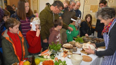 Roman soldiers, carrying food and craft activities, invaded Ely Museum on Saturday, February 2. Pict