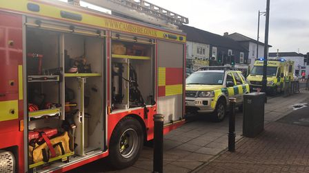 An incident in March has seen police cordon off a stretch of Station Road. Picture: HARRY RUTTER