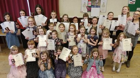 A March dance school held a party to celebrate the results of their exams – with 18 students awarded