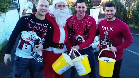 Burwell pals jump into the selfie spotlight to raise more than £2500 for charity. Picture: HOSPICE