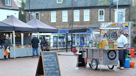 Ely market cancelled due to severe high winds. Picture: STEVE WILLIAMS.
