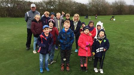 March Golf Club juniors have turned out in all weathers. It is hoped the club can run sessions for t