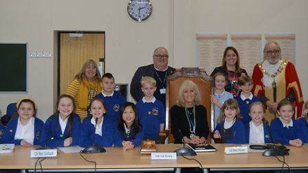 Pupils at an East Cambridgeshire primary school got a taste of local democracy after they visited th