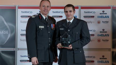 On Call Employer of the Year: Jordan Sutton - Staff at the Cambridgeshire Fire and Rescue Service ce