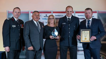 On Call Employer of the Year: Sainsburys March - Staff at the Cambridgeshire Fire and Rescue Service