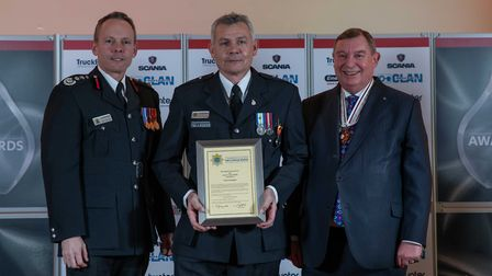 Long Service Medal: Paul Gasco - Staff at the Cambridgeshire Fire and Rescue Service celebrated at t