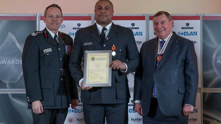 Long Service Medal: Ben Fawcitt - Staff at the Cambridgeshire Fire and Rescue Service celebrated at
