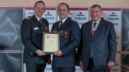 Long Service Medal: Chrys Chrysanthou - Staff at the Cambridgeshire Fire and Rescue Service celebrat