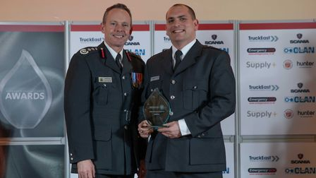 Excellence Award: Seb Croot - Staff at the Cambridgeshire Fire and Rescue Service celebrated at the