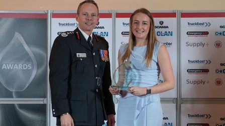 Excellence Award: Laura Walker - Staff at the Cambridgeshire Fire and Rescue Service celebrated at t