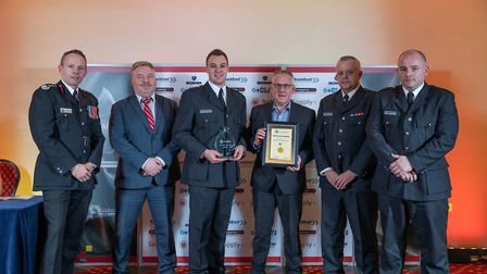 Excellence Award: March on call crew - Staff at the Cambridgeshire Fire and Rescue Service celebrate