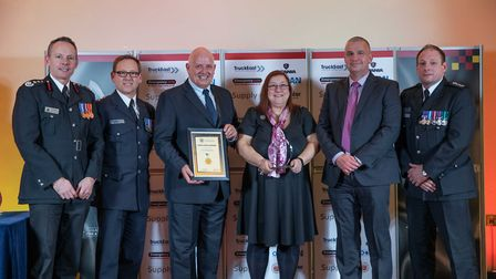 Excellence Award: Fire Protection Team - Staff at the Cambridgeshire Fire and Rescue Service celebra