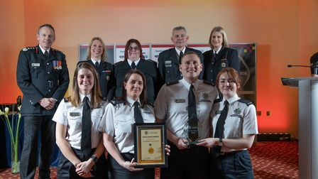 Excellence Award: Combined Fire Control - Staff at the Cambridgeshire Fire and Rescue Service celebr