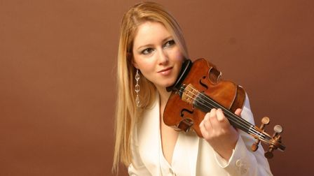 Solo violinist Harriet Mackenzie will perform at Ely Cathedral's sparkling Valentine's concert