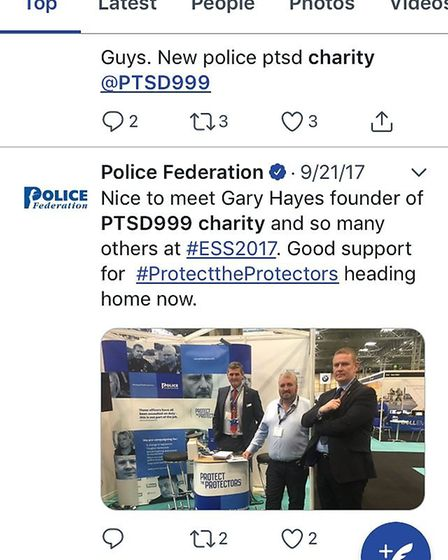 PTSD999: On Twitter the organisation PTSD999 has frequently been described as a charity, sometimes c