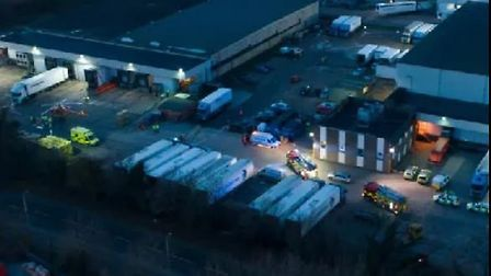 Two people have been hurt after an explosion at a factory in Peterborough. Picture: TERRY HARRIS.