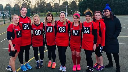 Ely Netball Club members face the camera