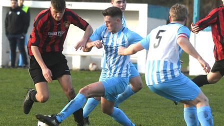 Action from Chatteris Towns victory against Cottenham United. Picture: IAN CARTER