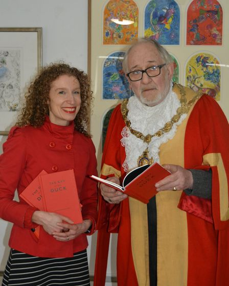 It was a day of frivolity as artist Helen Stratford launched her The Day of the Duck book at Ely riv