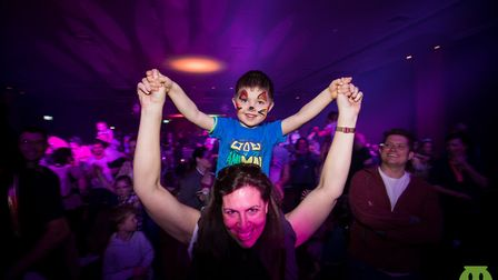 Heroes v superheroes themed family rave at The Maltings in Ely. Throwback to previous parties for ch