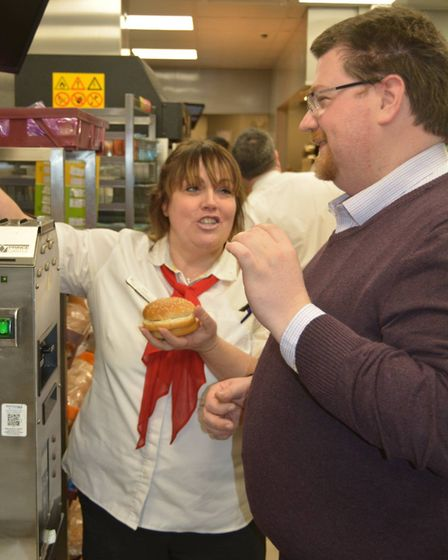 Burgers, fries and team spirit at Ely McDonald's as councillors get behind the scenes tour. Picture: