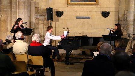 Hundreds packed into Ely Cathedral for Kings Seniors annual music festival finalists concert. Pictur