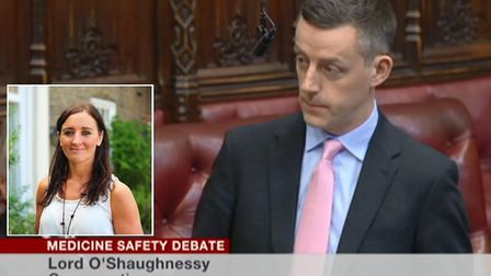 Cambs Times journalist Kath Sansom praised in the House of Lords for Sling the Mesh campaign by Lord