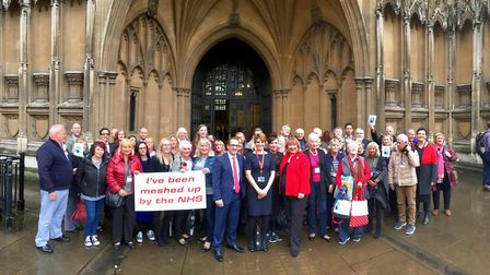 Cambs Times journalist Kath Sansom praised in the House of Lords for Sling the Mesh campaign. Here p
