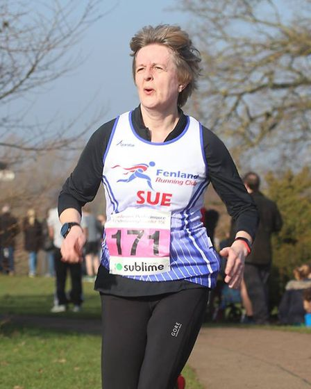 Sue Barrow - Six members of Fenland Running Club took on the Sublime Peterborough Winter 10 Race. Pi