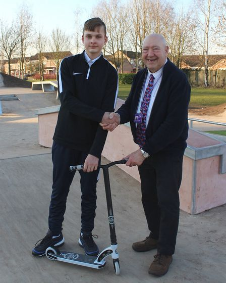 A state-of-the-art skate park has been officially opened in Wisbech. Picture: AMY AMPS.