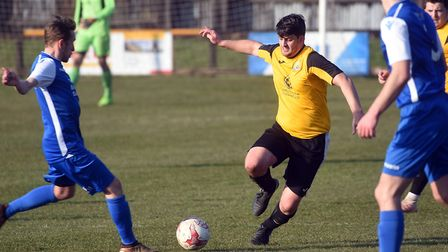 Action from March Town's clash with Cornard. Picture: IAN CARTER