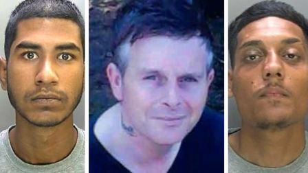 Juned Ahmed, 18, right) and Ashraf Hussan, 20, (left) stabbed Peter Anderson, 46, (centre) multiple