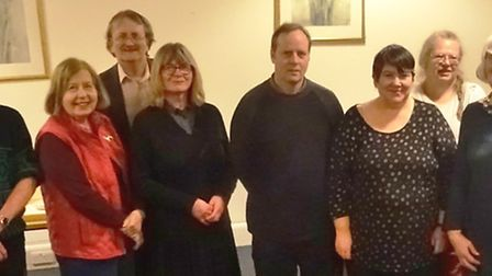 Some of the audience of members and friends of The March Society with Adrian Sutterby (centre). Pict