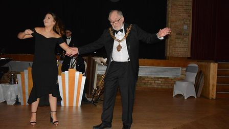 Mayor, Councillor Mike Rouse, dancing with his daughter Cassie at The Maltings. Picture: Submitted