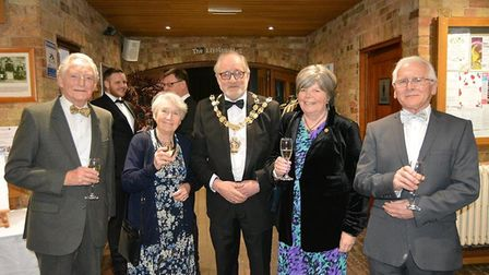 Mayor Councillor Mike Rouse hosts a ball at the Maltings, Ely, to raise money for Pos+bility. Pictur