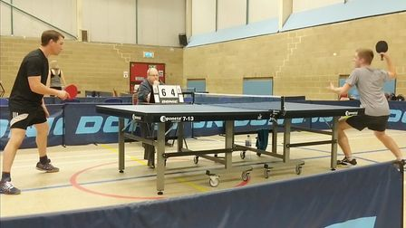 Ely & District Table Tennis League show experience and ability in closed tournament. Picture: CLUB.