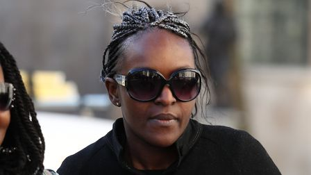 Disgraced MP Fiona Onasanya arrives outside The Royal Courts of Justice for her conviction challenge